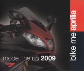Aprilia 2009 program brochure, 30 pages, Dutch/French language