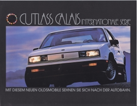 Cutlass Calais International Series 1988, 2 pages, export, German language