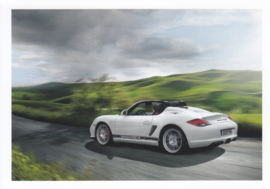Boxster Spyder postcard,  DIN A6 size, factory issue, about 2010