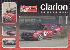 93 Clarion/MDS sponsored rallycross postcard, A4-size, Swedish language, 2004