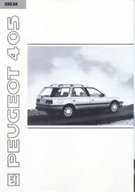 405 Break brochure, 28 pages, A4-size, 1991, Dutch language