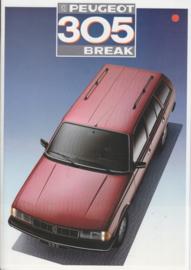 305 Break brochure, 16 pages, A4-size, 1987, Dutch language