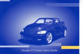 Chrysler PT Cruiser Cabrio study, A6-size postcard, IAA 2001