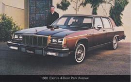 Electra 4-Door Park Avenue, US postcard, standard size, 1981