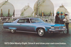 Ninety-Eight postcard, USA, 1973