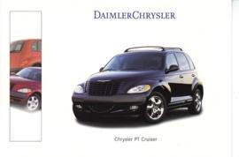 Chrysler PT Cruiser, A6-size postcard, Geneva 2000 French
