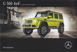 G 500 4x4 brochure, 12 pages, 06/2015, German language