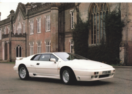 Esprit Turbo SE sportscar, 2 page leaflet, DIN A4-size, c1990, factory-issued, English