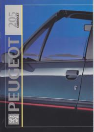 205 Cabriolet brochure, 12 pages, A4-size, 1992, Dutch language