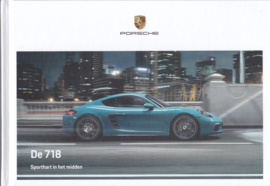 718 Boxster & Cayman brochure,  156 pages, 05/2019, hard covers, Dutch language