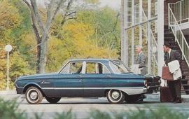 Falcon Fordor Deluxe Sedan, US postcard, standard size, 1963, # 56322-B