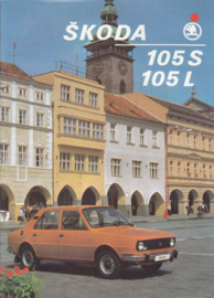 105 S/L Sedan brochure, 8 pages, Dutch language, about 1983, Belgium
