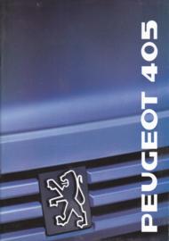 405 Sedan brochure, 36 pages, A4-size, 1989, Dutch language