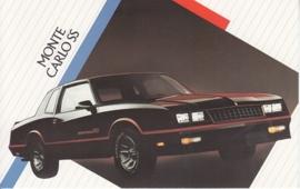 Monte Carlo SS,  US postcard, standard size, 1986