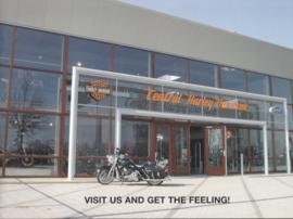 Harley-Davidson Central dealer brochure, 4 pages, A4-size, about 2008, Dutch language