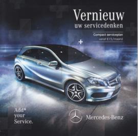 A-Klasse service program folder. 10 pages, 04/2013, Dutch language, Belgium