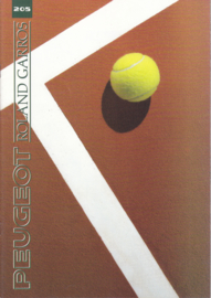 205 Roland Garros brochure, 20 pages, A4-size, 1991, French language