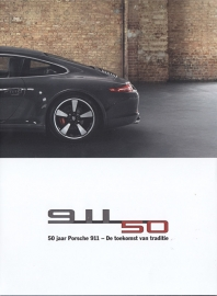 911 - 50 Years Jubilee model & history fold-out, 12 pages, 2013, Dutch