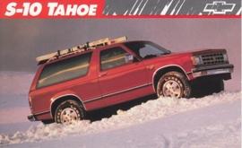 S-10 Tahoe,  US postcard, large size, 19 x 11,75 cm, 1989