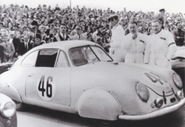 Porsche 356 SL 1951, A6-size postcard, factory-museum issue, German