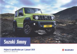 Jimny pricelist & specs. brochure, 12 pages, #50119, 2019, Dutch language