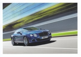 Continental GT Speed, A6-size postcard, about 2014, English