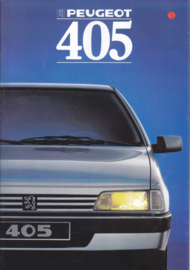 405 Sedan brochure, 16 pages, A5-size, 1988, French language