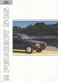 505 Break & Familiale brochure, 8 pages, A4-size, 1991, Dutch language