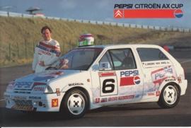 Citroen AX Cup race car with driver Jeroen van Inkel, sticker, 15 x 10 cm *