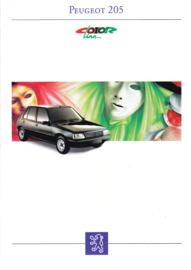 205 Color Line brochure, 8 pages, A4-size, 1993, French language
