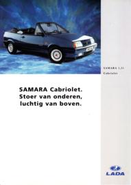 Samara Cabriolet brochure, 4 pages, 06/1995, Dutch language