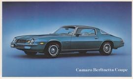 Camaro Berlinetta Coupe, US postcard, standard size, 1979