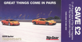 Diablo postcard, DIN A6-size with flap English language, 2001, issue by Top Gear