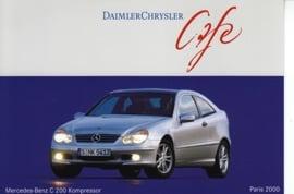 Mercedes-Benz C 200 Kompressor, A6-size postcard, Paris 2000