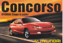 Coupe 2000 FX 16V, DIN A6-size postcard, Italian language, 1997, Swiss