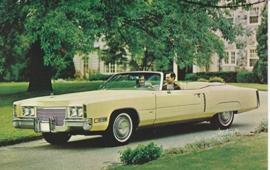 Fleetwood Eldorado Convertible, US postcard, standard size, 1971