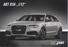"RS6 ""1/12"" ABT Tuning  leaflet, 2 pages, about 2016, English/German, DIN A5-size"