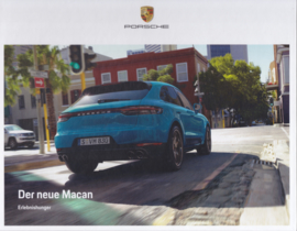 Macan new model brochure, 36 pages, 10/2018, hard covers, German language