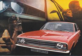 Cortina Sedan, DIN A6-size postcard, empty back side, approx. 1969