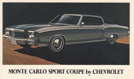 Monte Carlo Sport Coupe,  US postcard, standard size, 1970