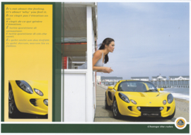 Elise portfolio with 5 sheets, A4-size, about 2003, 4 languages