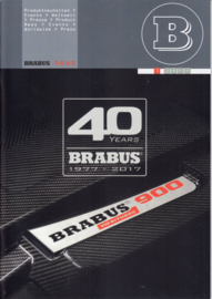 Brabus tuning program & history brochure, 44 pages, A4-size, 11/2017, German/English language