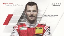 Racing driver Martin Tomczyk, postcard 2011 season, German language