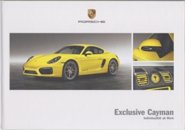 Cayman Exclusive brochure, 52 pages, 12/2013, hard covers, German