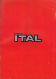 Ital all model brochure, 28 pages, A4-size, 1980, English language