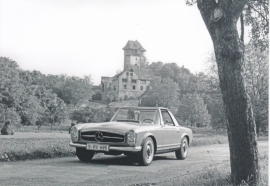 230 SL Coupe, A6-size postcard, issued by Editions Atlas, 2016