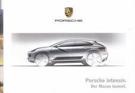 Macan introduction folder, 8 small pages, 2014, German