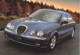 S-Type Sedan,  large postcard, 16 x 11 cm, Birmingham motorshow 1998