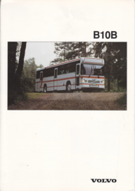 Volvo B10B brochure, 6 pages, A4-size, 1992, English language