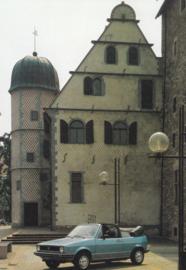 Karmann portfolio with 5 different A6-size postcards, 1980s, German